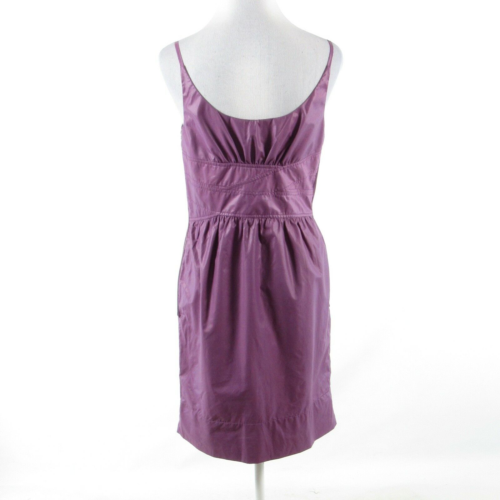 Purple cotton blend ARTHUR MENDONCA spaghetti strap sheath sheath sheath dress 8 NWT 3cf397
