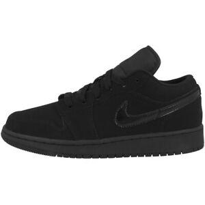 Nike Air Jordan 1 Low (GS) Schuhe Freizeit Sneaker Turnschuhe black 553560-056