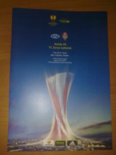 2 Programme Molde Norway Zarya Lugansk Ukraine 20142015 home+away