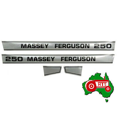 Tractor Bonnet Decal Sticker Set for Massey Ferguson MF250
