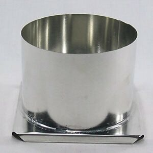 "Round Pillar Candle Mold  2/"" x 4/""   Metal      NEW"