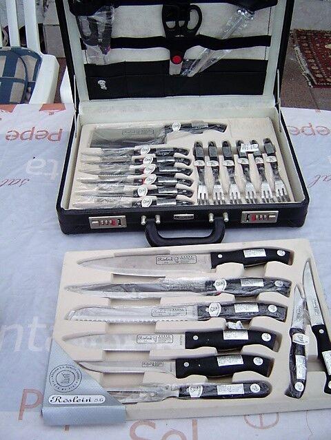 Sehr schönes schönes schönes Messerset 24 teilig im Aktenkoffer neu 41ddc6