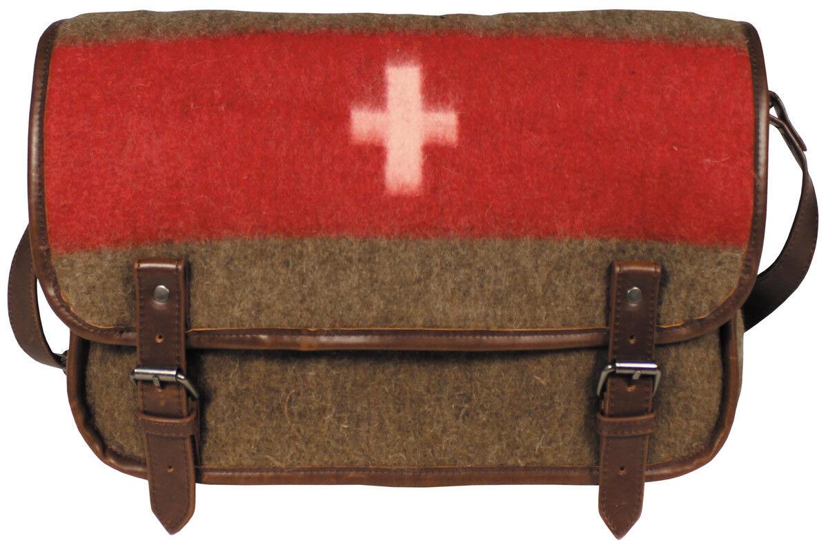 Schweizer Umhängetasche, mit Schultergurt Vintage Look Schultertasche