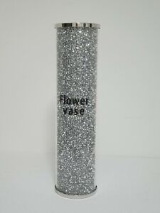 Beautiful Mosaic Vase Diamond Silver Crystal Decorative Mirror Flower Luxury26×7