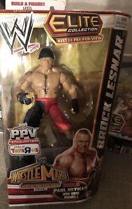 Mattel Wwe Elite Wrestmania 29 Meilleur film à la carte Brock Lesnar Exclusive Moc