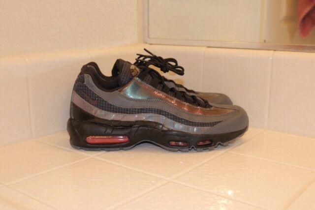 Nike Air Max 95 LV8 Mens AO2450 001 Black Ember Glow Grey Running Shoes Size 12