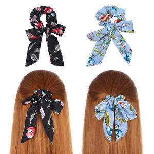 conception de la variété beaucoup à la mode quantité limitée Détails sur ruban fille des élastiques noeud de banderoles cheveux bague  prêle cravate