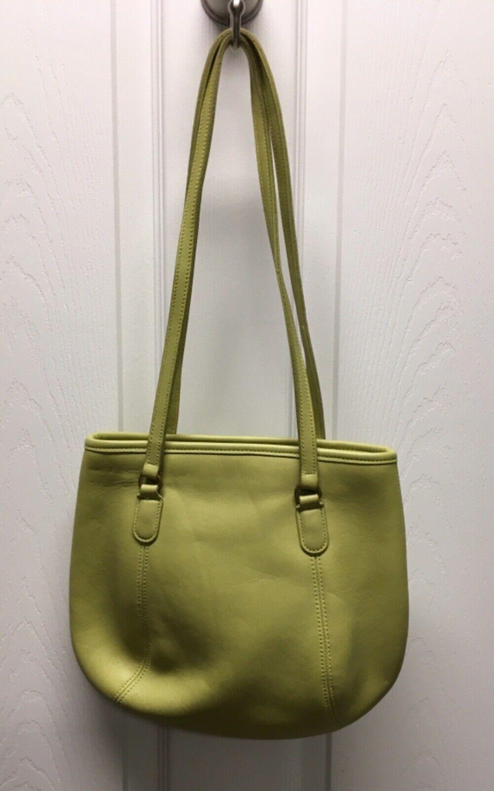 COACH Purse Handbag Leather Shoulder Light green … - image 1