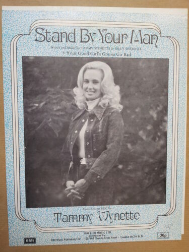 song sheet STAND BY YOUR MAN Tammy Wynette 1968