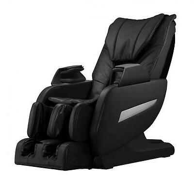 New Full Body Zero Gravity Shiatsu Massage Chair Recliner Heat Long Rail L-Track