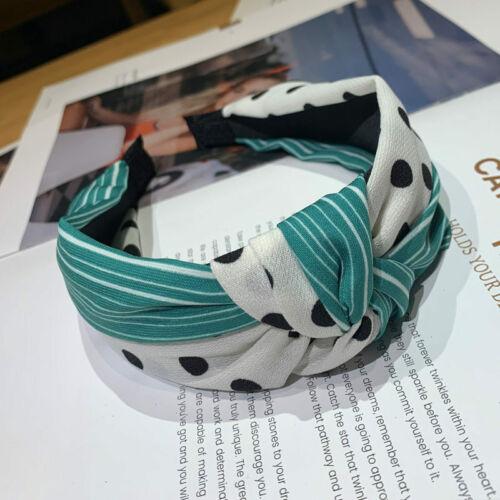 Femmes Dot cravate Serre-Tête Bandeau Noeud Alice Hair Band Cerceau Accessoires Bandeau