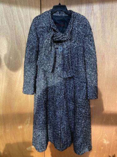 Vintage 70's Pauline Trigere Herringbone Wool Coat
