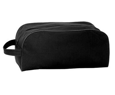 Schuhtasche mit Reißverschluss schwarz Schuhaufbewahrung Schuhbeutel Reisetasche