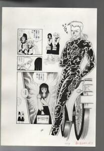 z361w-Kage-ni-Obiete-Original-Japanese-Manga-Comic-Art-Page-Horror-Story