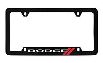 Dodge Logo Black Metal license Plate Frame Holder 4 Hole