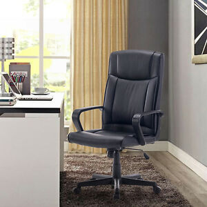 Executive Luxury Swivel Adjustable PU Leather Computer Extra