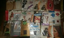 Lot 24 Pairs of Nylon Stockings Hosiery  Several Brands some Vintage