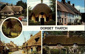 Dorset-Thatch-England-AK-1974-Lulworth-Burton-Bradstock-Corfe-Castle-Lyme-Regis