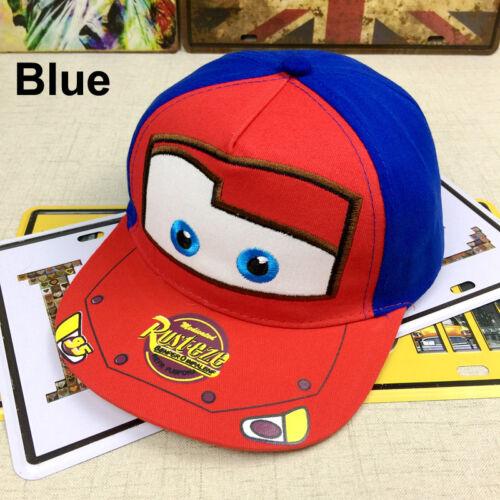 Kids Toddler Children Boys Car Lightning Mcqueen Sport Snapback Hat Baseball Cap