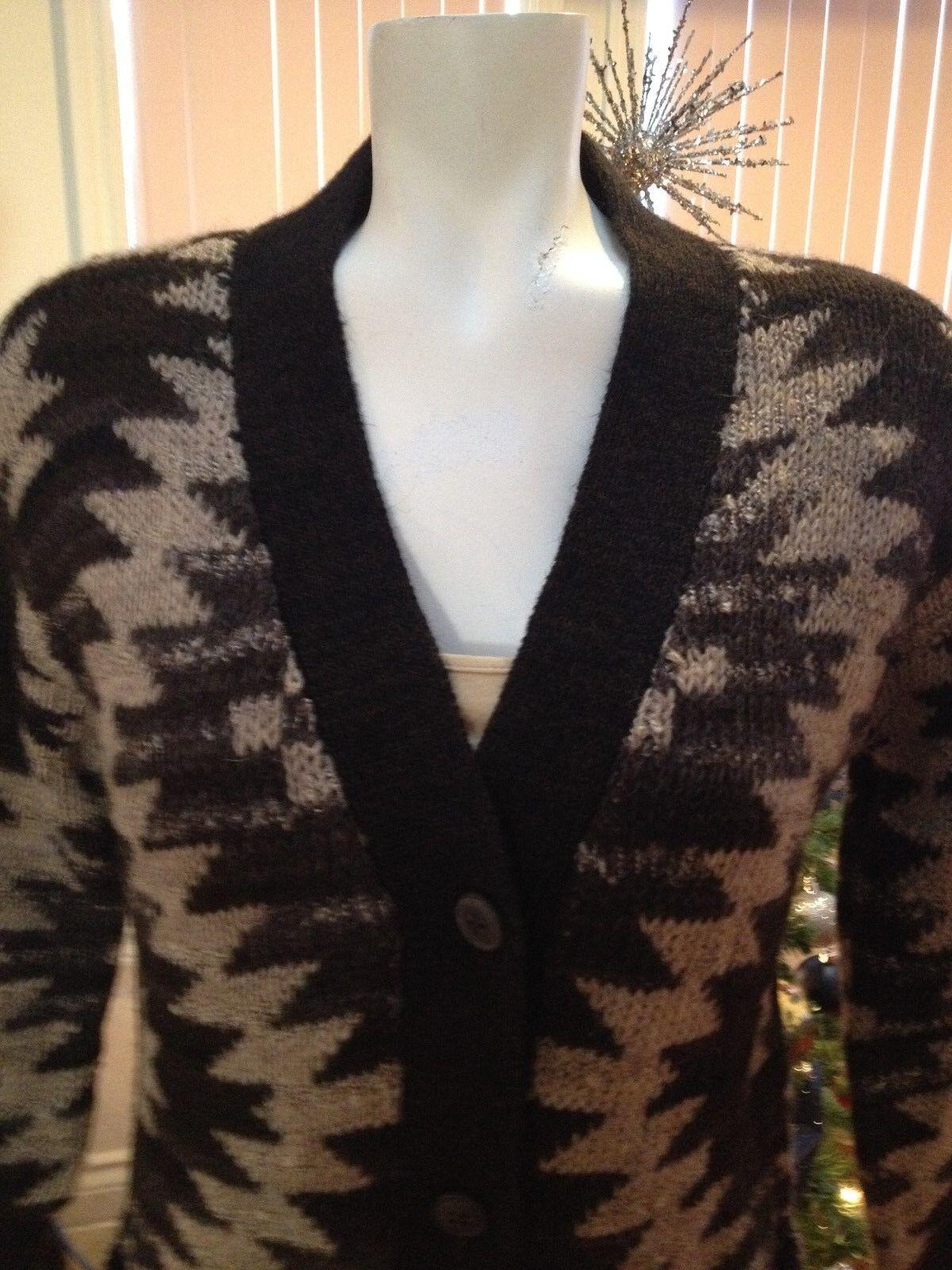 Denim & Supply Ralph Lauren Brown Long Alpaca Alpaca Alpaca Wool-Blend Cardigan Sweater Small 959ffb