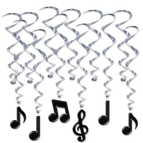 Musical Notes Hanging Whirl Decoration #2 Musical Notes Party Decorations