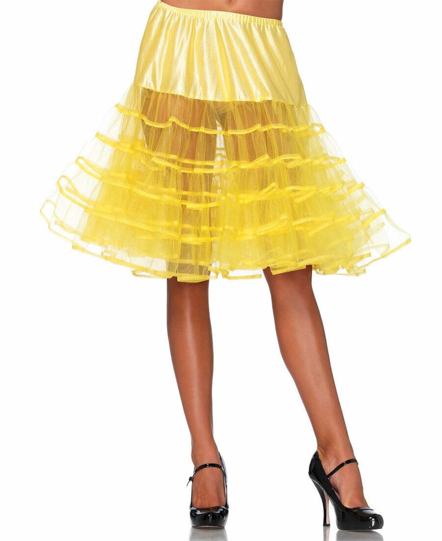 New Leg Avenue 83043 Yellow Knee Length Petticoat