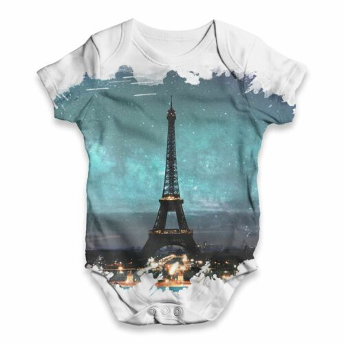Eiffel Tower Paris Baby Unisex Funny ALL-OVER PRINT Baby Grow Bodysuit