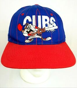 Chicago-Cubs-Baseball-Hat-Cap-90s-Vintage-TAZ-Looney-Tunes-Snapback-1993-Rare