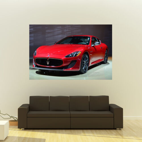 Poster of Maserati Granturismo Sport Red LF Giant Super Car Huge Print 54x36