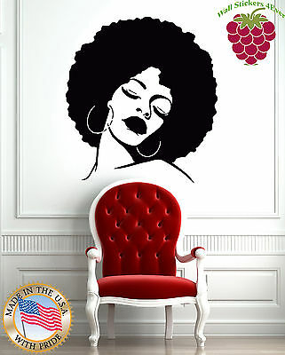 Wall Stickers Vinyl Decal Fashion Black Lady Hot Sexy Hair Spa  Salon z596