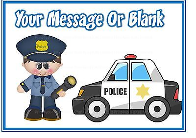 Personalised cake topper edible icing sheet A4 ND1 Cartoon Police man policeman
