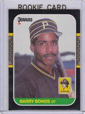BARRY BONDS ROOKIE CARD 1987 Donruss RC Pittsburgh Pirates SAN FRANCISCO GIANTS