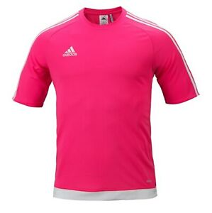 Details about Adidas Men Estro 15 Shirts S/S Soccer Jersey Pink Climalte Top Tee Shirt S16163