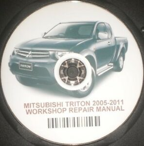 Mitsubishi / Triton 2005--2011 Repair Service Workshop Manual On CD ...