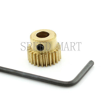 3mm Bore Hole 24 Teeth 24T Module 0.5 Motor Metal Gear Wheel with Top Screws
