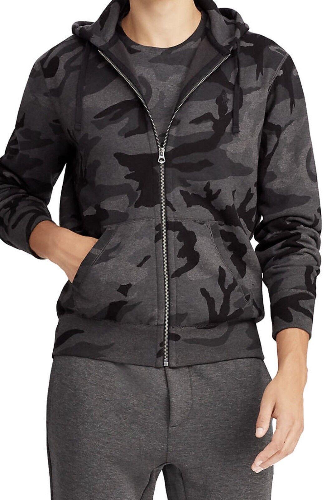 Polo Ralph Lauren Full Zip Fleece Hoodie Grey Camo 2XL NWT
