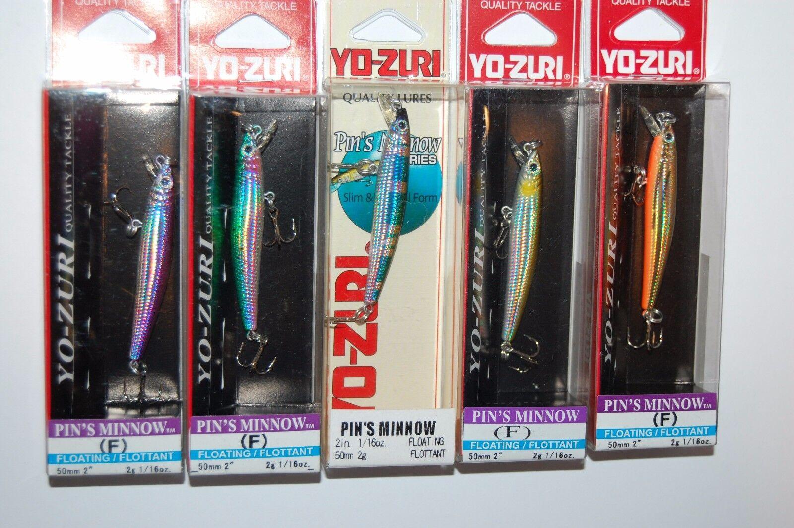 5 lures yo zuri  pins pin's minnow f196 2  1 16oz rainbow trout lure assortment  offering store