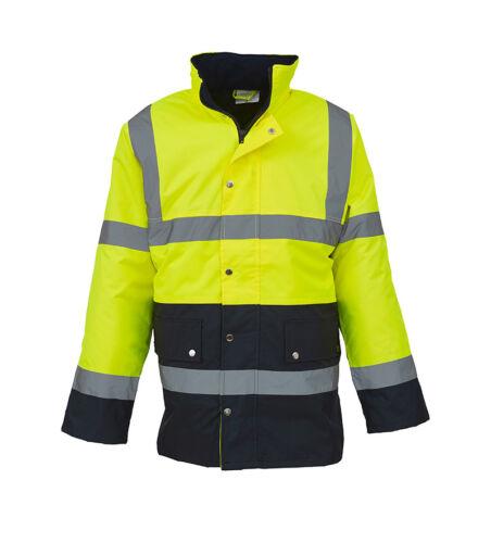 Work Wear Vest HVP302 Yoko YK048 Hi Viz 2 Tone Safety Waistcoat Motorway Jacket