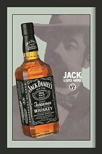 Jack Daniels Distiller Nostalgie Barspiegel Spiegel Bar Mirror 22 x 32 cm