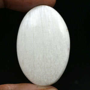Cts-33-65-Natural-Chatoyant-High-Grade-Scolecite-Cabochon-Oval-Loose-Gemstone