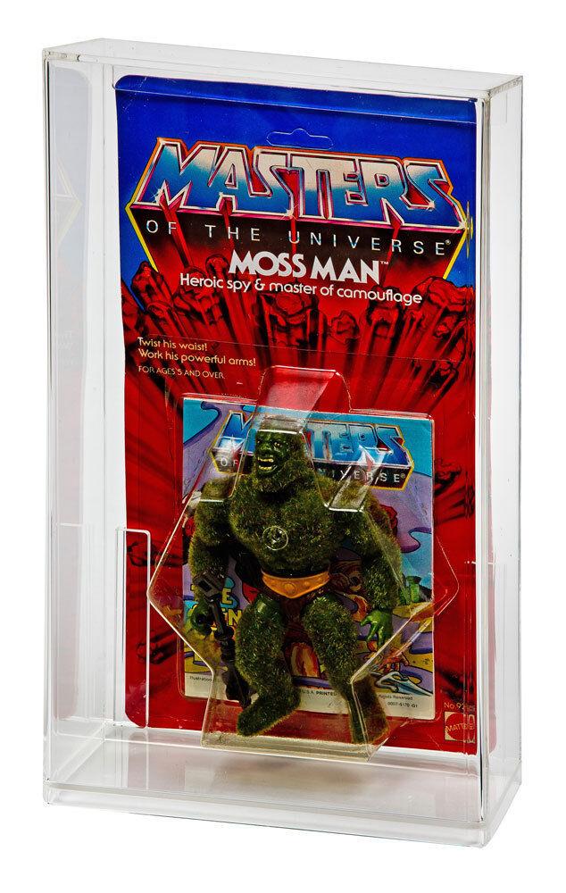 GW Acrílico Moc cardada Vintage He-man Amos del universo Figura De Acción caso de exhibición (5 Pack)