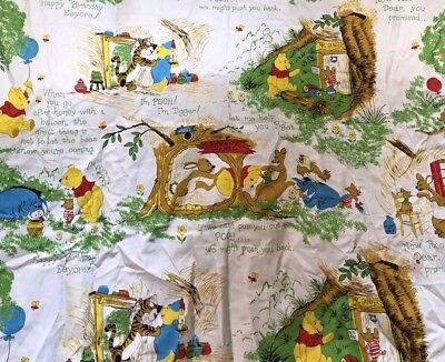 Vintage Winnie The Pooh Disney Curtains