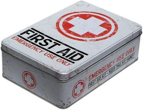 Nostalgische First Aid hell Vorratsdose Blechdose Küchendose Box Dose DOFL16