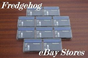 10-x-SUPERB-PANASONIC-DVM-60-MINI-DV-DIGITAL-VIDEO-CAMCORDER-TAPES-CASSETTES