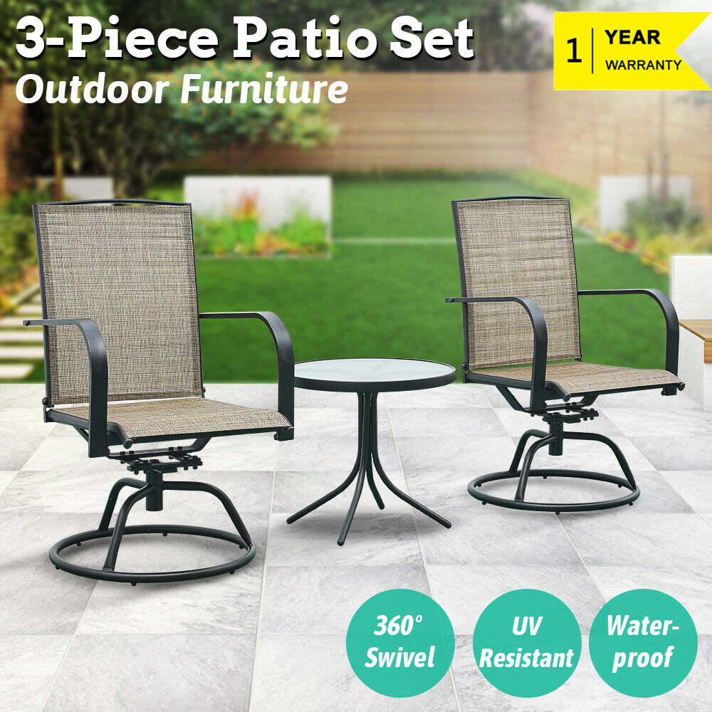 Patio Furniture Sets Clearance Bistro Table Chairs Swivel White Wicker Cushions For Sale Online Ebay