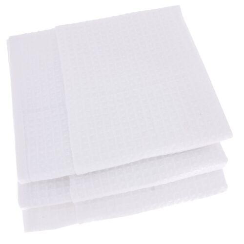 3 x vaisselle foulards écharpes 100/% Coton Gaufre-piqué blanc//Blanc Torchon
