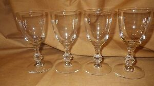 Crystal Cordial Glasses Elegant fancy stem 4 4 ounce stems made in France