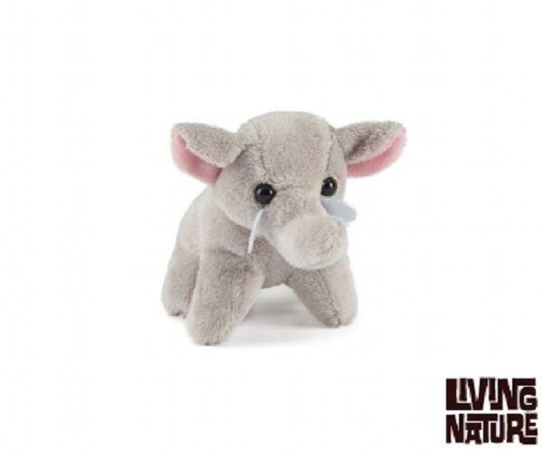 LIVING NATURE ELEPHANT PLUSH MINI BUDDIES - AN05EL SOFT CUDDLY PLUSH ELEPHANT TOY 13CM APPROX 77fdbc