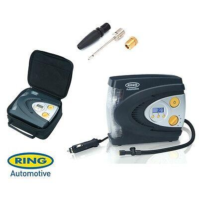Ring 12V Automatic Digital Air Compressor Wheel Tyre Inflator Pump + Case RAC630