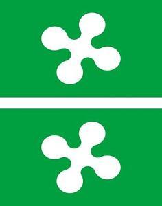 2x-Adhesivo-adesivi-pegatina-sticker-vinilo-bandera-vinyl-italia-laombardia